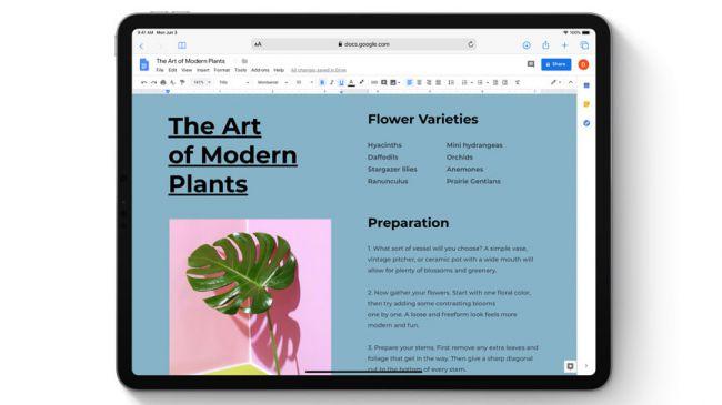 Формат рабочего стола в iPadOS 13