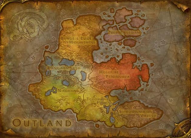 Карта Burning Crusade