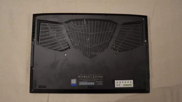 Нижняя панель Gigabyte Aero 17 (2021)