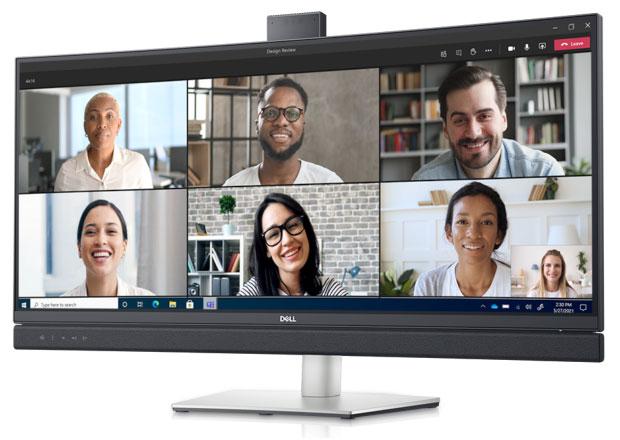 Изогнутый монитор для видеоконференций Dell 34