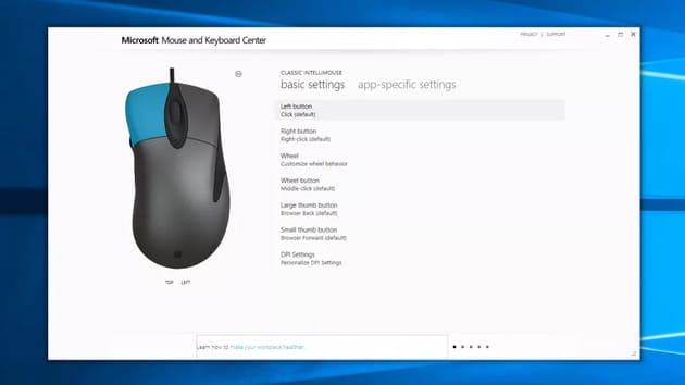 Настройка Microsoft Classic IntelliMouse