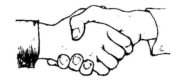 Ладони находятся вертикально – «взаимное уважение»
