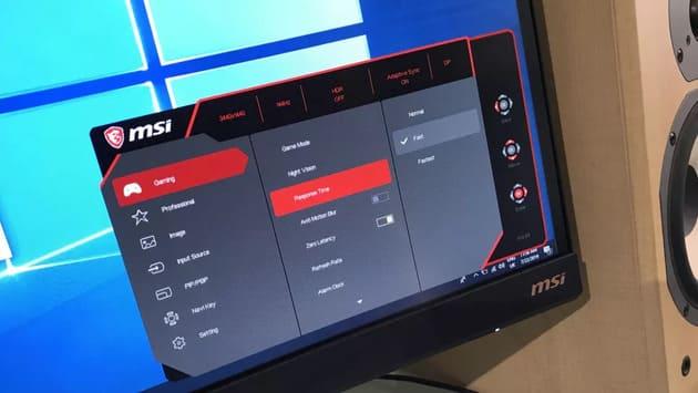 Экранное меню MSI Optix MPG341CQR
