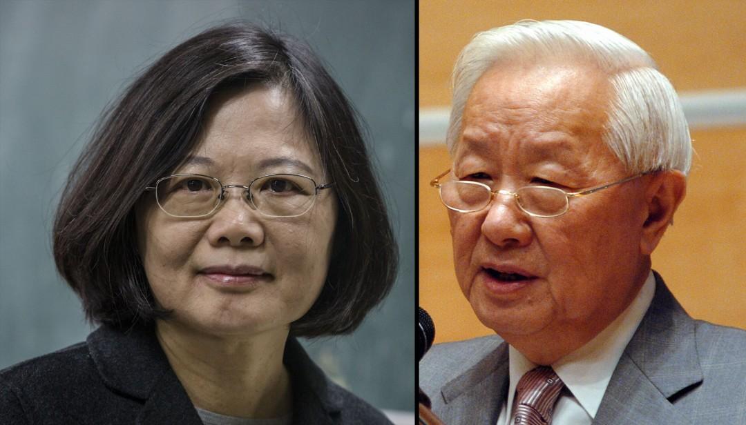 """Президент Тайваня Цай Инь-вэнь (слева) и основатель TSMC Моррис Чанг. """"Width ="""" 1080 """"height ="""" 616 """"/>   <div class="""
