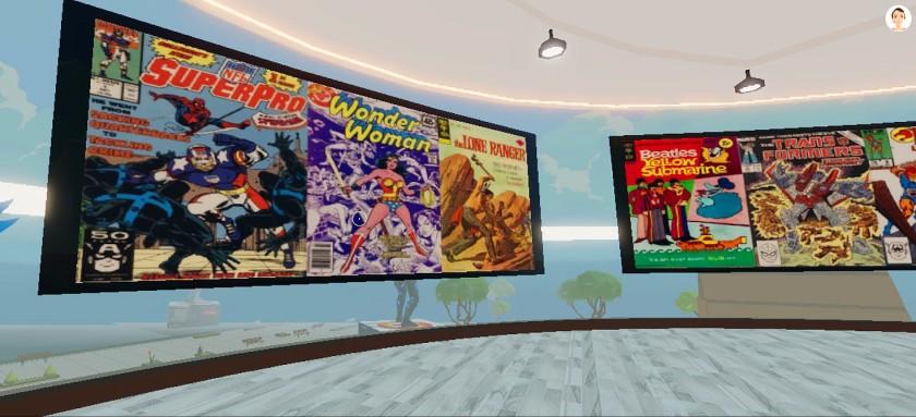 """Скриншот виртуальной картинной галереи Хосе Дельбо на Decentraland """"width ="""" 840 """"height ="""" 383 """"/>   <div class="""