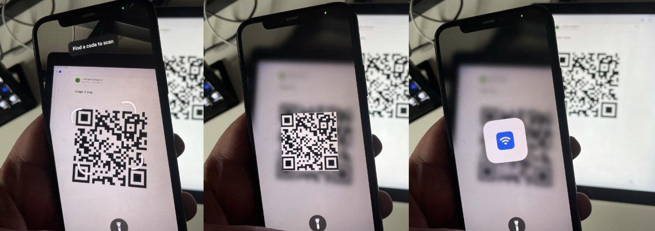 """LR ваш гость ищет QR-код, iPhone регистрирует его и разблокирует сеть """"loading ="""" lazy """"class ="""" img-responsive article-image """" /> </div> <p> <span class="""