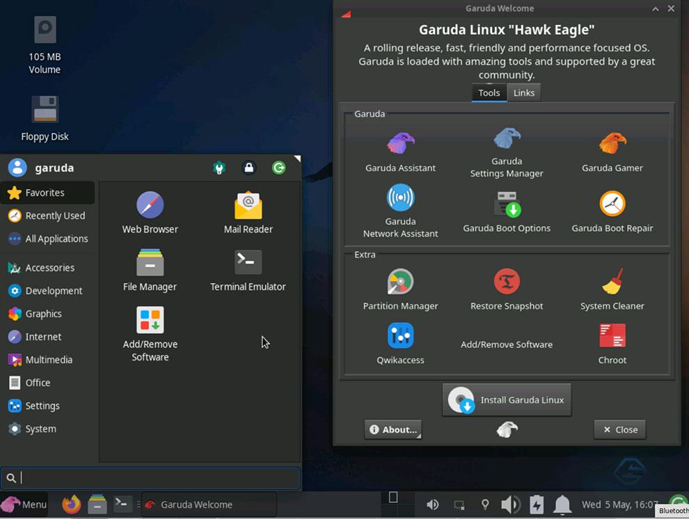 "Рабочий стол Garuda Linux XFCE ""width ="" 990 ""height ="" 746 ""/> </p> <p> <span style="