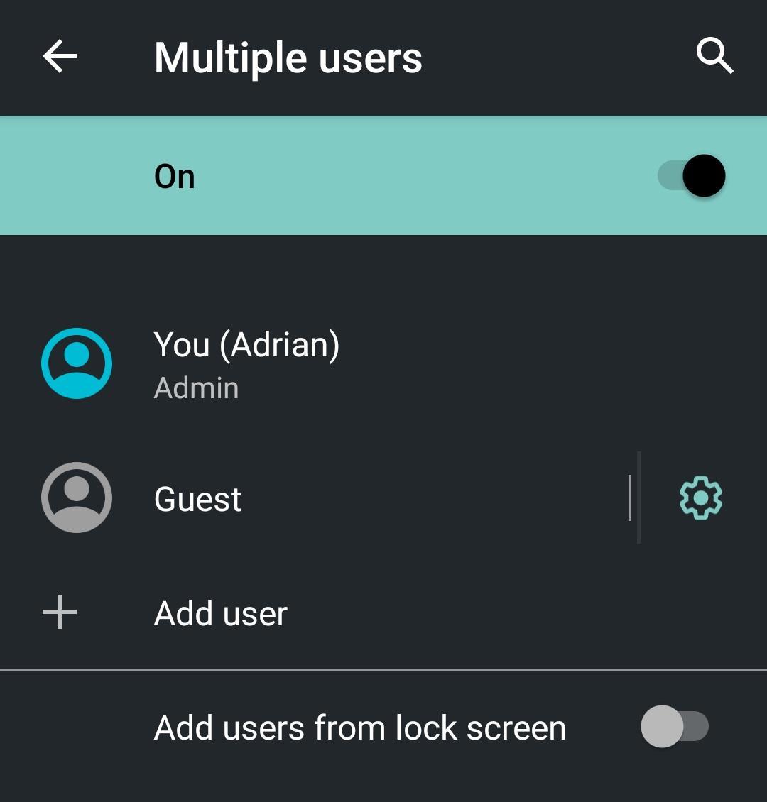 Гость Режим на Android
