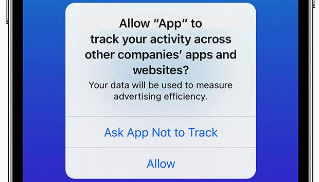 Параметры отслеживания приложений iOS 14.5 на iPhone