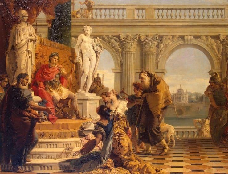 Тьеполо Джованни Баттиста. «Меценат представляет императору Августу свободные искусства»