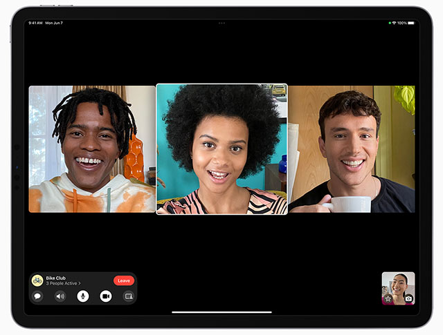 FaceTime Group iPad