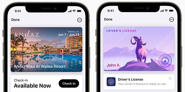 Кошелек для iPhone iOS 15 гостиница ключ, водительские права