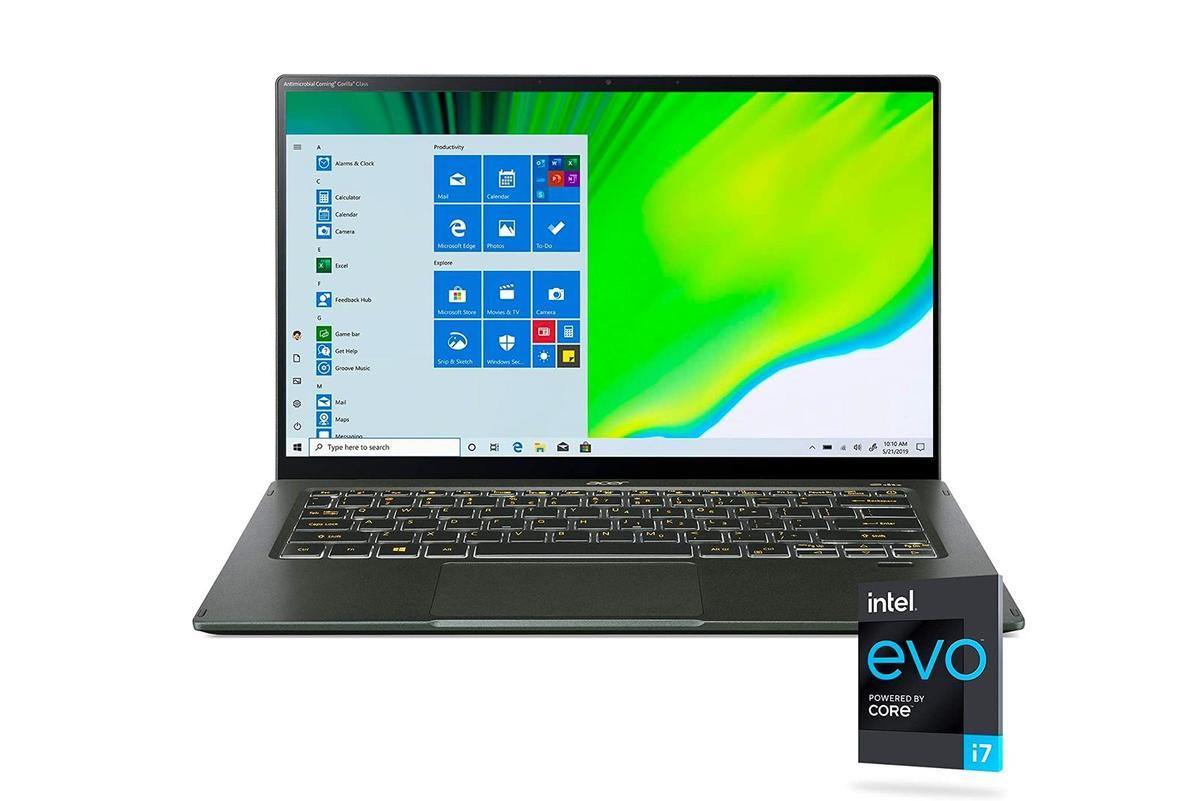"""6.jpg"""" height = """"auto"""" width = """"1200"""" </span> </noscript></p> <p> Если вы хотите купить новый ноутбук с Windows 10 во время распродажи Prime Day, вам следует рассмотреть Acer Swift 5. </p> <p> Этот ноутбук работает под управлением Windows 10 Home и оснащен 14-дюймовым сенсорным дисплеем Full HD, процессором Intel i7, графикой Intel Iris Xe, 16 ГБ оперативной памяти и SSD-накопителем на 1 ТБ. </p> <p>        <a href="""