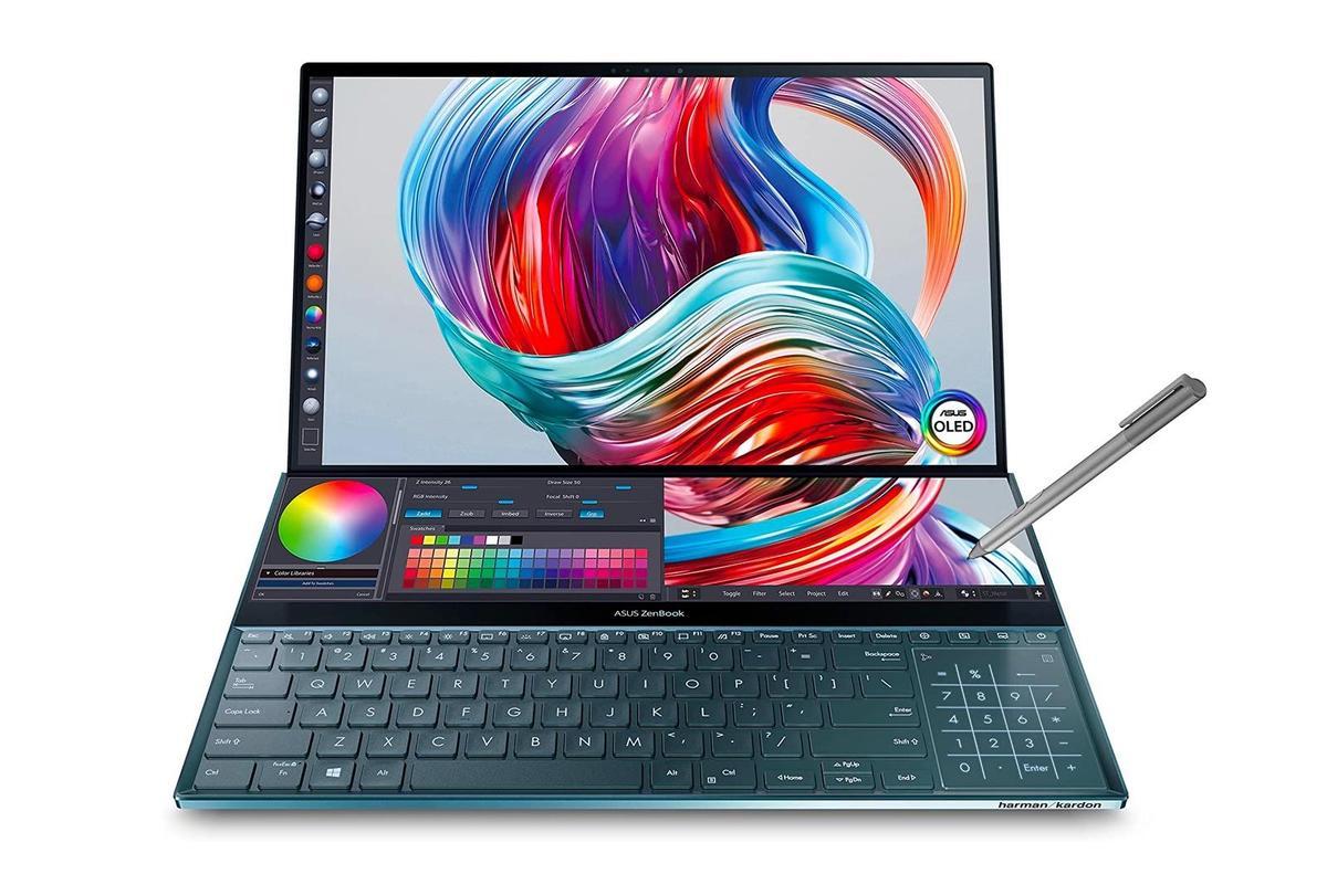 """46.jpg"""" height = """"auto"""" width = """"1200"""" /> </span> </noscript></p> <p> Еще один ноутбук с Windows, который стоит рассмотреть, — это ноутбук ASUS ZenBook Pro Duo, устройство премиум-класса, которое в настоящее время доступно по сниженной цене на 300 долларов. </p> <p> Работающий под управлением Windows 10 Pro, ZenBook оснащен 15,6-дюймовым сенсорным дисплеем UHD, процессором Intel i7 10-го поколения, 16 ГБ оперативной памяти, SSD-накопителем 1 ТБ и графикой Nvidia GeForce RTX 2060. </p> <p>        <a href="""
