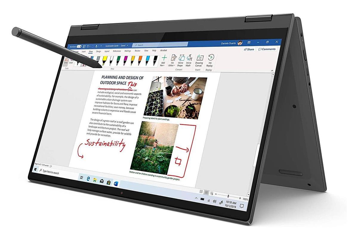 """40.jpg"""" height = """"auto"""" width = """" </span> </noscript></p> <p> Для покупателей, которые ищут гибридный ПК с Windows 10 Home через Prime Day, продается Lenovo Flex 5. Этот ноутбук оснащен 14-дюймовым сенсорным дисплеем Full HD, шарниром на 360 градусов, процессором AMD Ryzen 5, 16 ГБ оперативной памяти, 256 ГБ SSD-накопителя и графикой Radeon. В комплект поставки входит ручка, доступная в сером цвете. </p> <p>        <a href="""