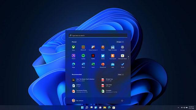 Темный режим начального экрана Windows 11