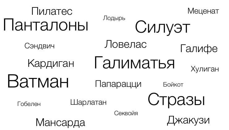 27 известных слов, которые произошли от фамилий