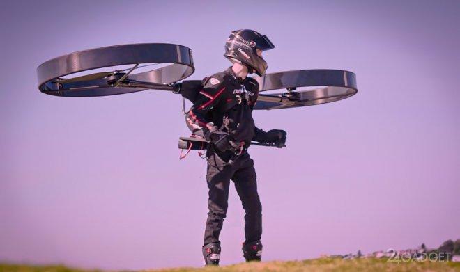 Индивидуальный рюкзак-вертолет CopterPack совершил первый полет (видео)