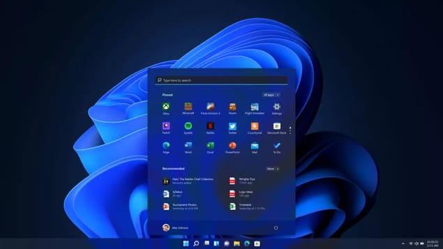 Новое меню Пуск в Windows 11 (Темная тема)