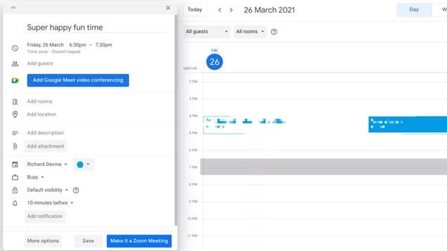 Интеграция Zoom в календарь хромбука