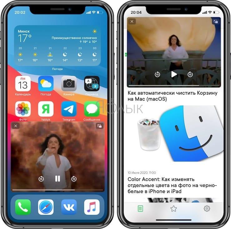 Режим «картинка в картинке» на iPhone: как включить и пользоваться