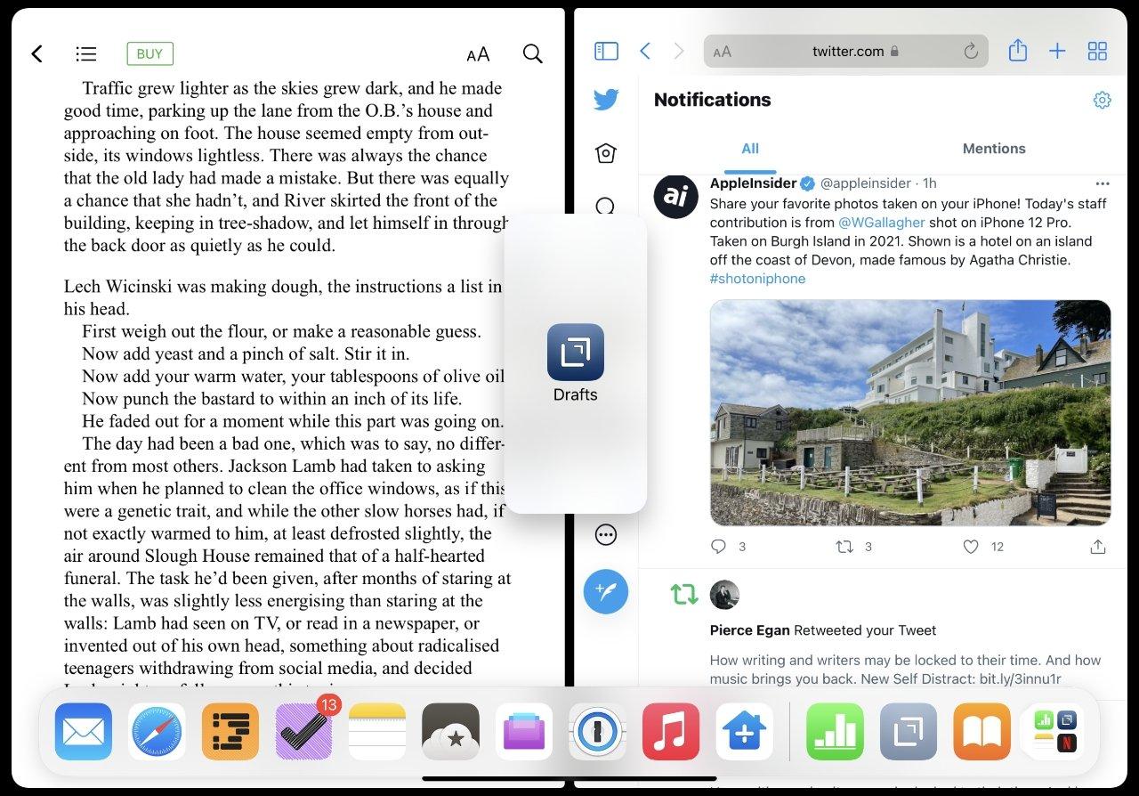 """Для этого нет никакого контроля, но вы можете перетащить третье приложение на экран, чтобы создать новый Slide Over one """"height ="""" 894 """"loading ="""" lazy """"класс = """"img-responsive article-image"""" /> </div> <p> <span class="""