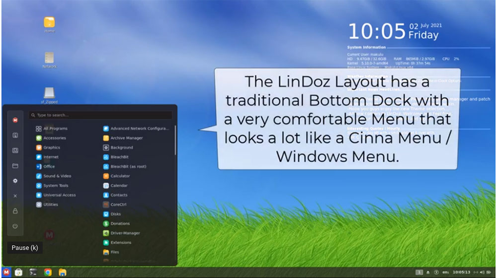 """MakuluLinux Shift LinDoz layout """"width ="""" 1000 """"height ="""" 560 """"/> </p> <p> <span style="""