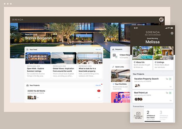 Мобильный веб-портал Moxtra