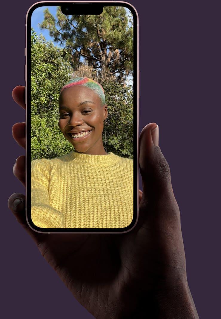 Фронтальная камера в iPhone 13