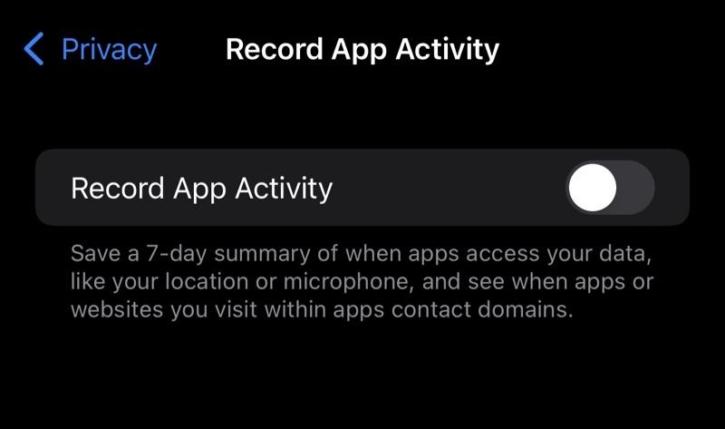 Запись активности приложения