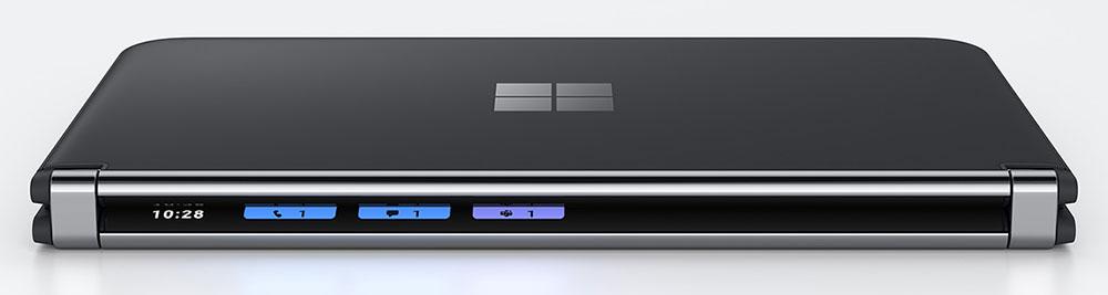 """Петля Microsoft Surface Duo 2, вид сбоку """"width ="""" 1000 """"height ="""" 267 """"/> </p> <p> Вы можете превратить один из экранов в игровой контроллер, сделав его лучшим игровым портативным устройством продукт, чем практически любой другой смартфон. </p> <p> <img loading="""