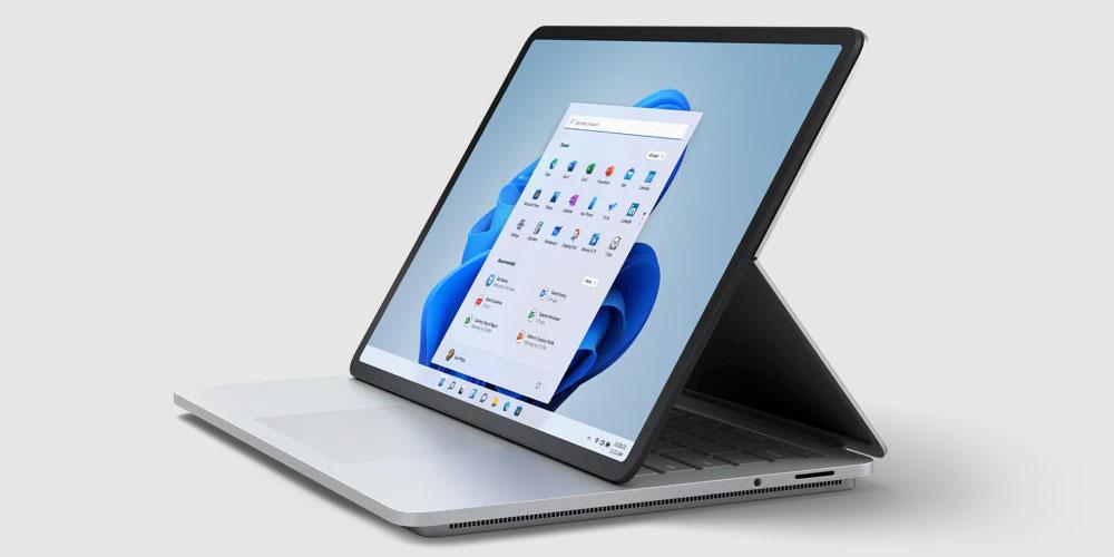 "Microsoft Surface Laptop Studio ""width ="" 1000 ""height ="" 500 ""/> </p> <p style="